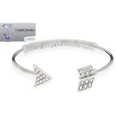 Arrow bangles bracelet in White