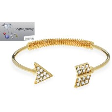Arrow bangles bracelet Yellow Gold