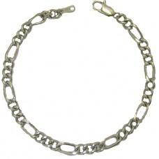 Figaro Bracelets 8 inch white gold