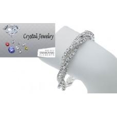 Two Row twisted stretch with genuine Swarovski crystal