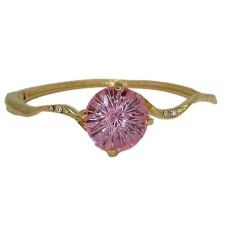 Hinged Pink Ice Bracelet 20 CTW CZ