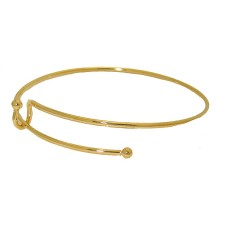 Expandable Wire Bangle Bracelet in yellow gold