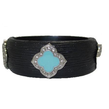 Black MX Designer Resin Bangle Bracelets