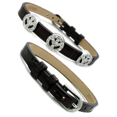 Leather Bracelet Brown for Slide Wholesale Charms