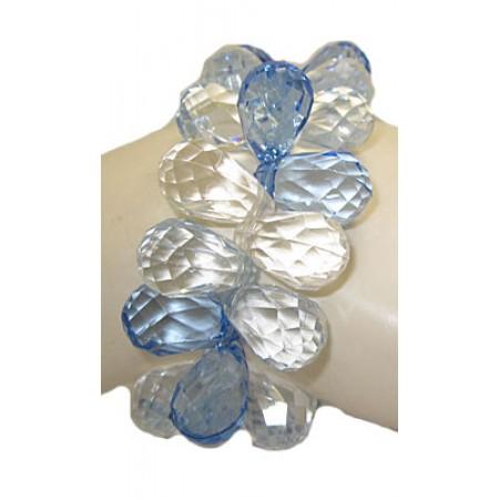 Blue Yuletide Jewels Stretch Bracelets
