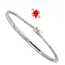 High end Cz Wholesale Bracelet or Anklet 9 inches white gold