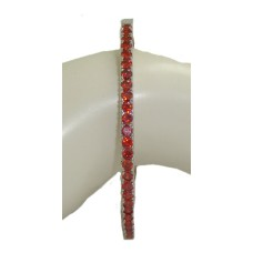 Cz Bangle Bracelet RUBY RED Crystal