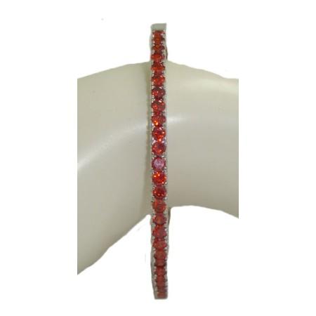 Cz Bangle Bracelet RUBY RED Crystal