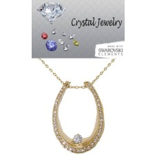Cz Wholesale Horseshoe Pendant on Chain, western