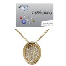 Designer pave circle pendants & chain