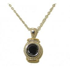 Designer Cable Necklace 18 Kt Gold Jet Black