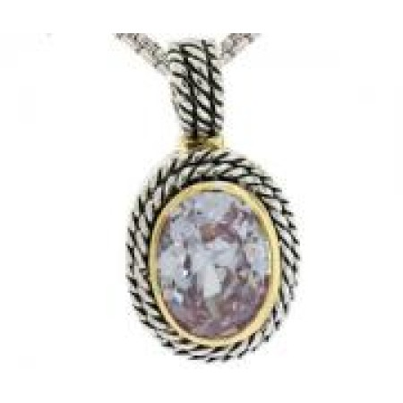 Double Cable Necklace Lavender