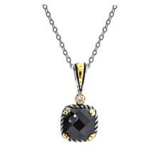 Wholesale Jet Black Cubic Zirconia Necklace
