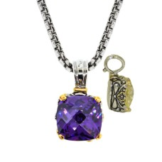 Designer Cable Jewelry Necklace Amethyst