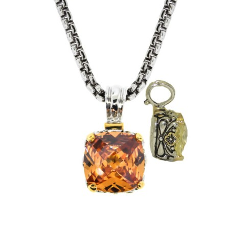 Designer Cable Jewelry Necklace Champagne