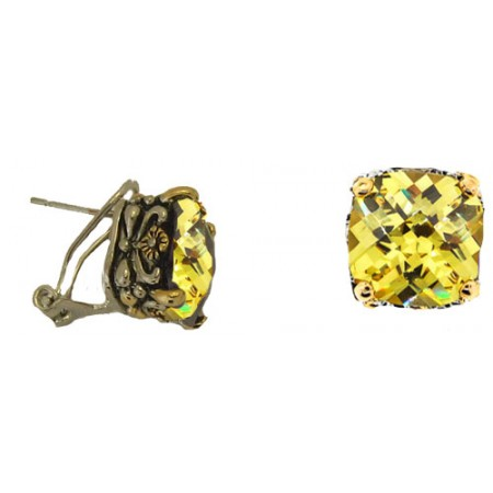Designer Cable Jewelry Earring Citrene