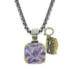 Designer Cable Jewelry Necklace Lavender