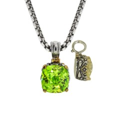 Designer Cable Jewelry Necklace Peridot