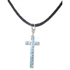 Crystal Cross Silk Cord Necklace wholesale