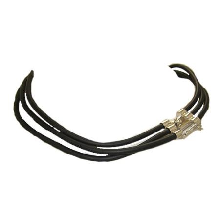 Black Rubber wholesale Triple Necklace 18 inches