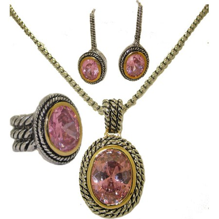 Double Cable 3 pcs Wholesale Set in Pink