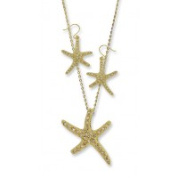 Starfish 2 pcs Earring Necklace Set