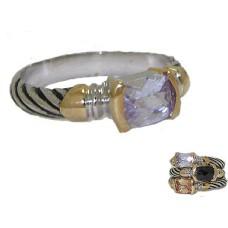 Designer Cable Stackable Ring Lavender