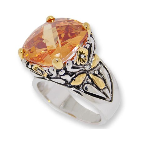 Designer Cable Jewelry Ring Champagne