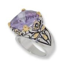 Designer Cable Jewelry Ring Lavender