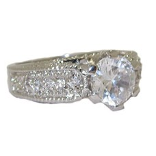 White Cubic Zirconia wholesale ring