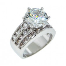 White Cubic Zirconia stones ring