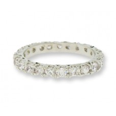Crystal Eternity Band Ring White Gold