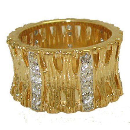 Yellow Gold Fashion Designer wholesale Ring at low price