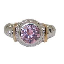 Designer Cable Ring 18 Kt Gold Pink