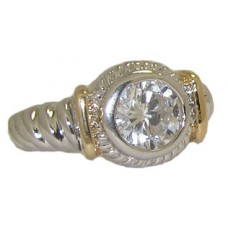 Designer Cable Ring 18 Kt Gold White