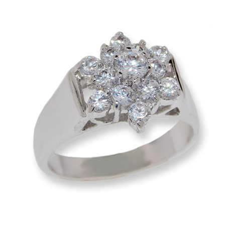 White CZ Classic Designer ring