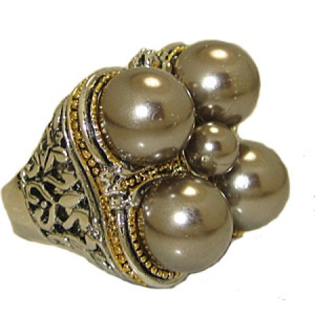 Grey Pearl Designer Wholesale Ring