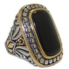 Genuine Gemstone Black Onyx Wholesale Designer Ring