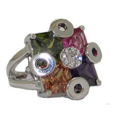 Multi Free Form Wholesale Austrian Crystal Ring