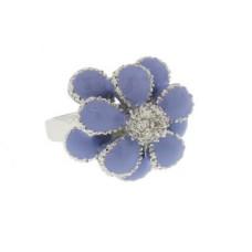 Designer Flower Ring accented in Swarovski Stones