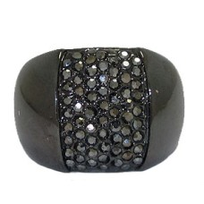 Gunmetal Hermatie Wholesale Crystal Ring
