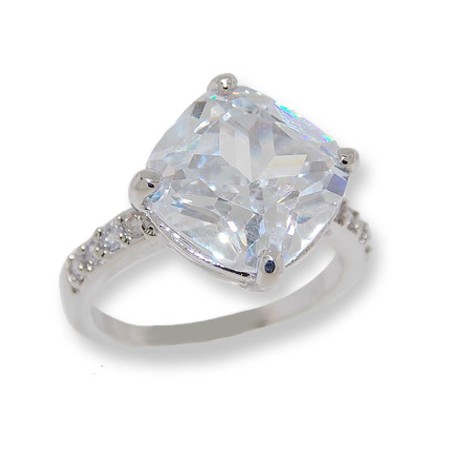Classic Wholesale White Cubic Zirconia Ring White Gold