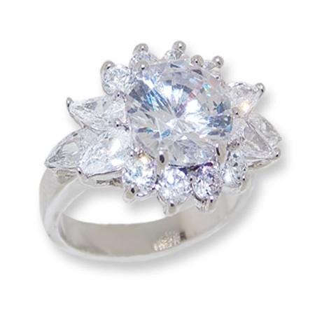 White CZ Wholesale ring