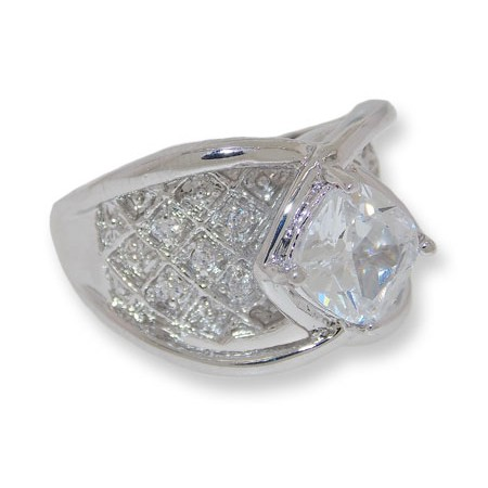 Bachelorette Bling Ring White Wholesale Simulated Diamond ring