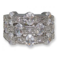 White CZ's in wholesale ring