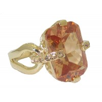 Champagne Cubic Zirconia Wholesale Ring