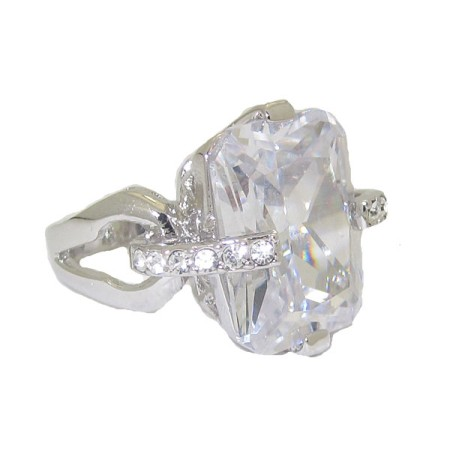 Bachelorette Bling Ring Crystal Clear Cubic Zirconia Wholesale Ring