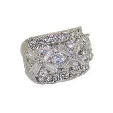 White Center Cubic Zironia & white wholesale crystal ring