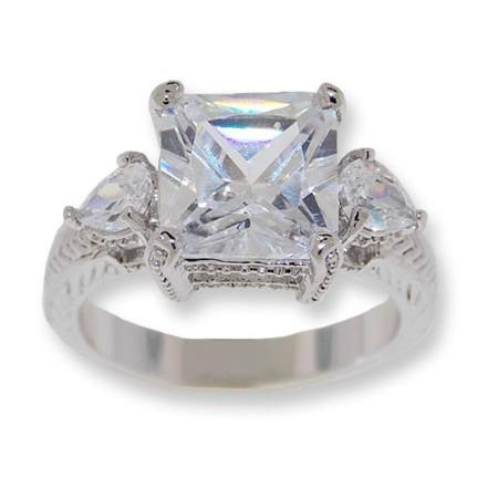 White CZ classic ring