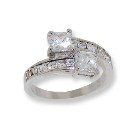 White CZ's Wholesale Ring